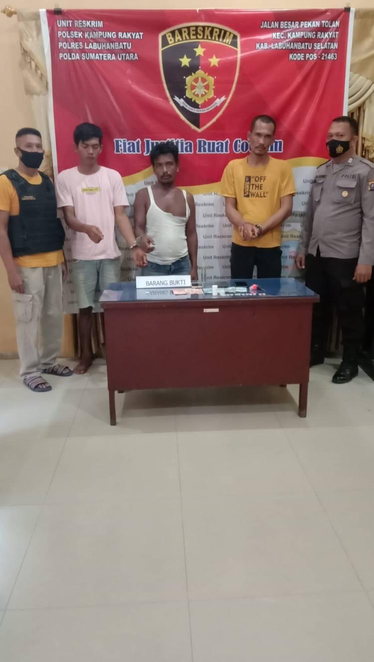 Tekab Polsek Kampung Rakyat Tangkap Tiga Orang Diduga Pemilik Narkoba