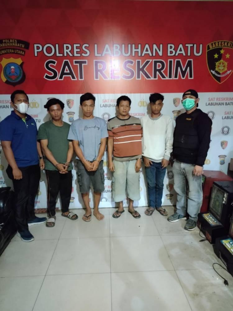 Seminggu Beroperasi, Pemilik Warung dan 3 Pemain Judi Tembak Ikan Labura Diringkus