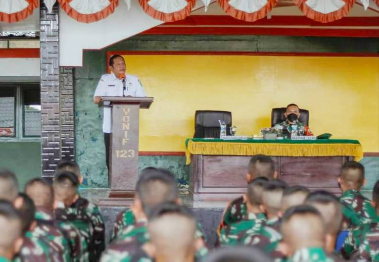 Walikota Sidimpuan Berangkatkan 145 Prajurit Yonif 123/RW PAM Perbatasan RI